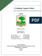 Makalah Ruang Lingkup Agama Islam
