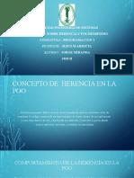 CONCEPTO DE  HERENCIA EN LA POO