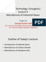 Chemical Technology I _Lecture  9_10_11_Industrial Gases