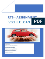 RTB ASSIGNMENT on Vechile Loan