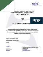 MRPI-certificate-EPD-Ecocem-GGBS