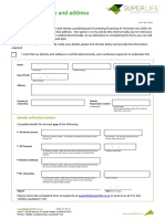 Electronic verification and AML leaflet