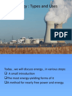 Energy types and uses