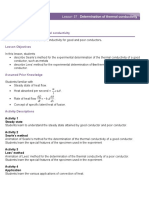 Physics Lesson plan 57 Determination of thermal conductivity