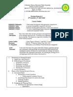 Nursing Research Course Outline