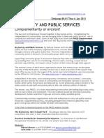 Big Society & Public Services Press Release