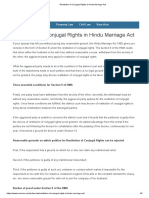 Restitution of Conjugal Rights in Hindu Marriage Act