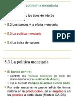 Diapo - POLITICA MONETARIA