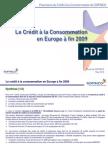 Le marché européen du crédit à la consommation (fin 2009)