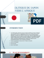 GEOPOLITIQUE DU JAPON ENVERS L'AFRIQUE