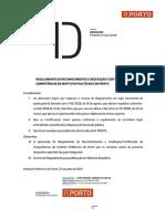 Despacho P.PORTO-P-033-2019 - Reconhecimento e Creditacao-Certificacao de Competencias