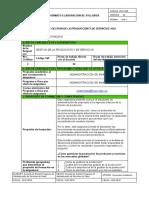 SYLLABUS GESTIÓN DE LA PRODUCCIÓN Y DEL SERVICIO (Presencial)