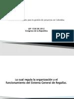 LEY 1530 DE 2012CONGRESO DE LA REPÚBLICA