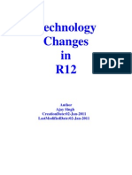 Technology Changes in R12