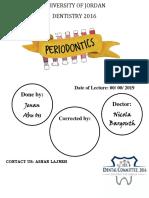 21. Periodontology SHEET