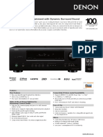 denon avr1312 - product information