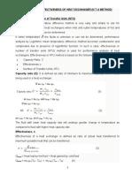 Module IV - 5, Effectiveness of H X  (N T U Method)