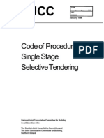 NJCC Code of Procedure for Single Stage Selective Tendering
