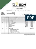 FACTURA NO. 130 CASA COBRA