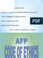AFP CODE OF ETHICS JO ANN.ppt