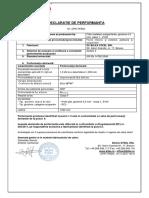 Declaratie performanta - Tabla plana-050 - zincat