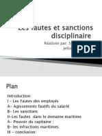 Les fautes et sanctions disciplinaire final