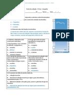 Teste de avaliação - CORREÇÃO -