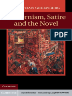 Modernism, Satire and the Novel by Jonathan Greenberg