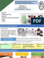 Acido acetico glacial y acido borico