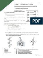 Ficha formativa 2 – DNA e Síntese Proteica