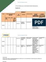 Ficha de Planificación de Acciones Complementarias Primero