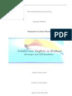 Verhalten einer Tragfläche im Windkanal - Messungen und CFD-Simulation