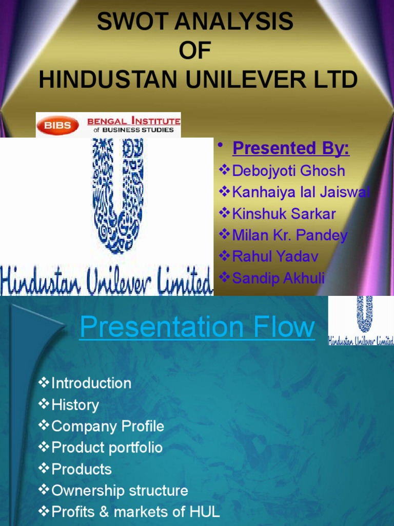hindustan unilever business analysis Category: business analysis title: case study:hindustan unilever limited.