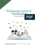 PRINCIPIOS DE EDUCIÓN E INTERVENCIÓN PEDAGÓGICA
