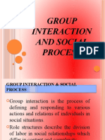Group interaction and social process