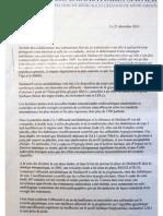 Mediator - Lettre du laboratoire Servier aux médecins