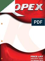 Kopex Pricelist Jan 2011
