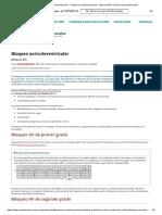 Bloqueo auriculoventricular - Trastornos cardiovasculares - Manual MSD versión para profesionales