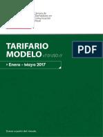 Tarifario CDCV v7.0 2017 Enero - Mayo USD