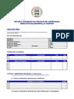 FORMATO HOJA DE VIDA 2019
