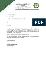 General Assembly Letter