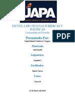 Tarea 2 - La lengua como base de la cultura - Luigi - UAPA - Español I