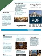 Informacion acerca de Bellas Artes folleto
