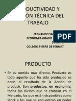 PRODUCTIVIDAD Y DIVISIÓN TÉCNICA DEL TRABAJO_21 MAYO