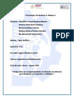 CODIGO DE ÉTICA ANTE COVID-19._
