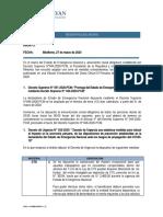 Memorandum  del DS 051-2020-PCM y DU 033-2020