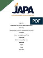Fundamentos Del Curriculo de La Educación Inicial. Tarea.4