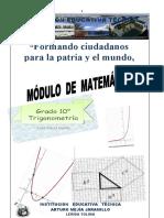 Guía 1 Trigonometría 10° Abril 21 al 30, 2020 - Páez
