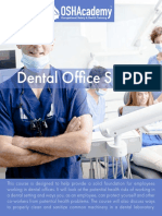 608 Study Guide - Dental Office Safety