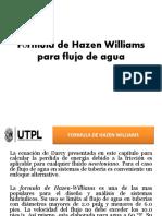 Fórmula de Hazen Williams